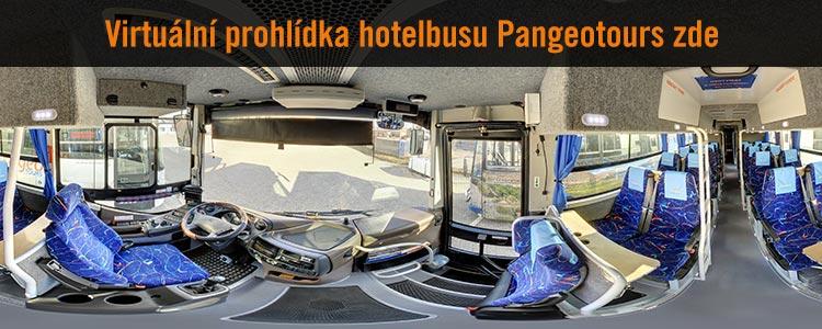 Virtuální prohlídka Hotelbusu Pangeotours - přední část