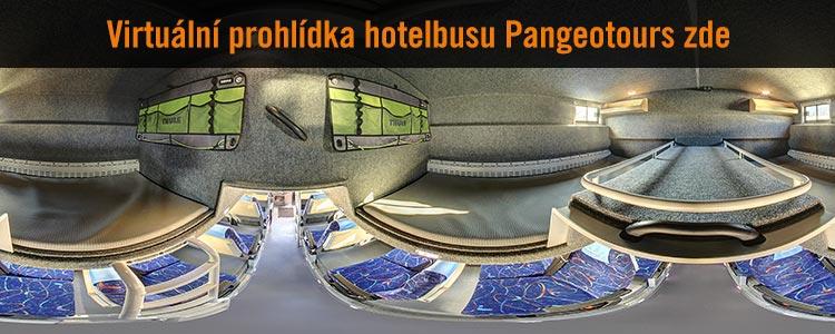 Virtuální prohlídka Hotelbusu Pangeotours - ložnice