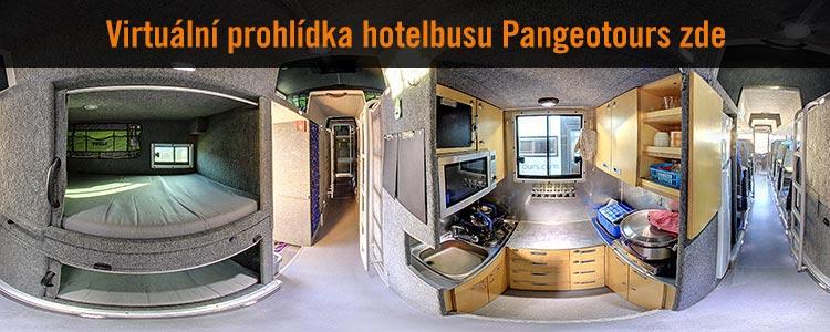 Virtuální prohlídka Hotelbusu Pangeotours - kuchyňka