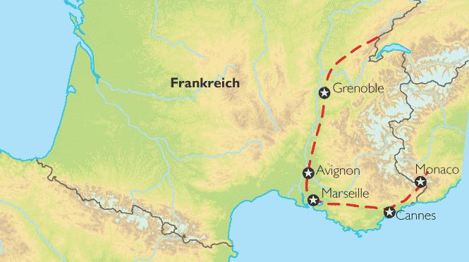 Karte Italien Frankreich.Reise Pangeo Tours Provence Savoyen Italien Reise Zu Den Düften