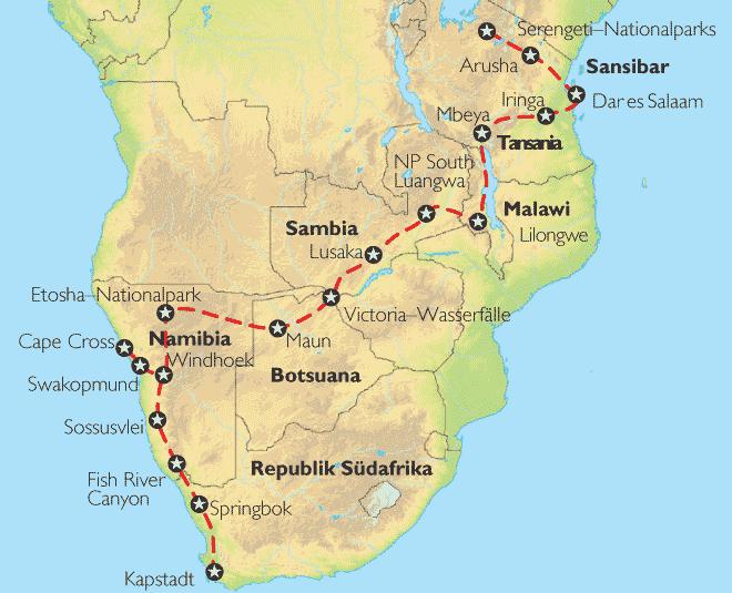 nationalparks afrika karte redesignathome. Black Bedroom Furniture Sets. Home Design Ideas
