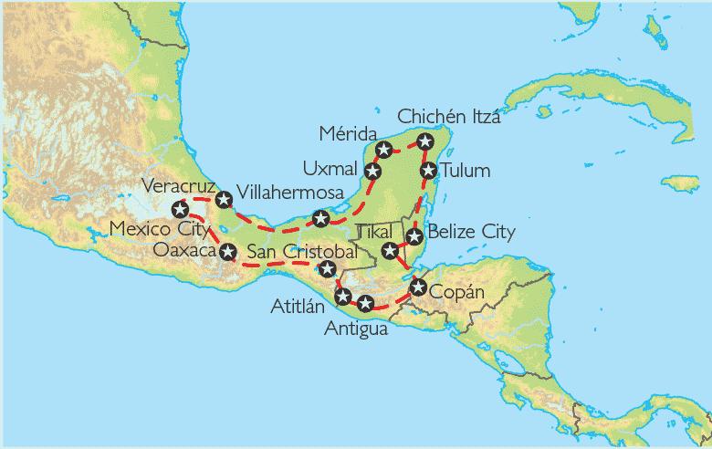 Reise Pangeo tours: Mexiko, Belize, Guatemala, Honduras | Rundreise ...