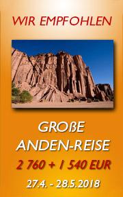 Große Anden-Reise | Chile, Argentinien, Bolivien, Peru | 22.04.14 - 23.05.14